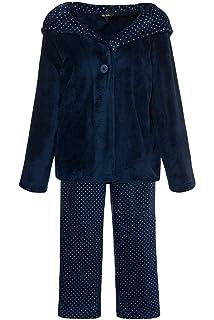 Ulla Popken Damen große Größen bis 58+, Homewear-Anzug, Zweiteiler,  Gepunktete 92d6537e52