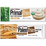Paleo & Primal Protein Bars 12 Bars w/ 20g Organic Protein Whey & Egg White (4 Ingredients) (Low Carb & Gluten Free)