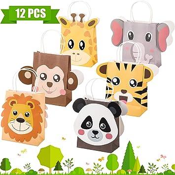 Outus Jungle Safari Party Favor Bolsas Zoo Animales ...