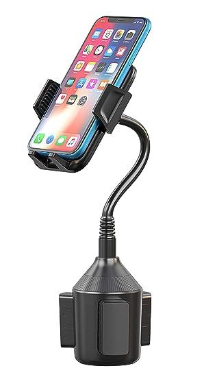 Cocoda Soporte para el Sujetavasos del Coche, Soporte Movil Coche para Portavasos con Cuello Flexible y Soporte de Rotación 360° para iPhone XS ...