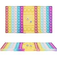 Duoya Jumbo Poppit Fidget Toys Dice Board Games Push Popper Bubble Sensory Stress Relief Toy for Unisex Kids Adults