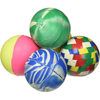 Rhode Island Novelty 60mm Assorted Colored Super Bouncy Balls, 12 Pack: Toys & Games