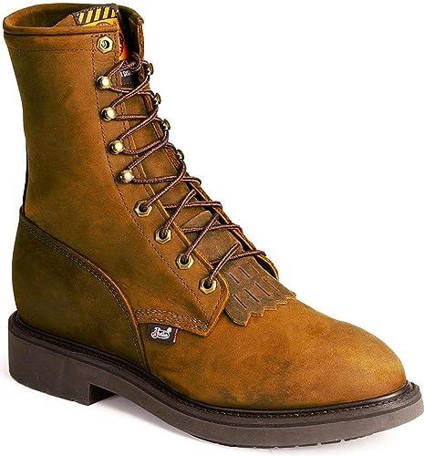 Work Boot Steel Toe Brown 9 EE
