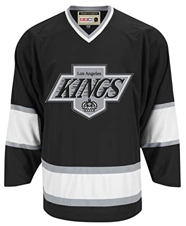 Los Angeles Kings Black Reebok Team Classic Throwback Jersey