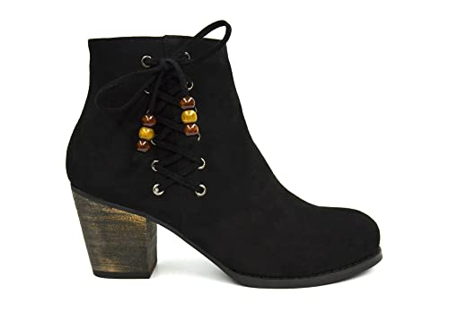 Oh My Shop - Botines Mujer, Negro (Negro), 40 EU: Amazon.es: Zapatos y complementos
