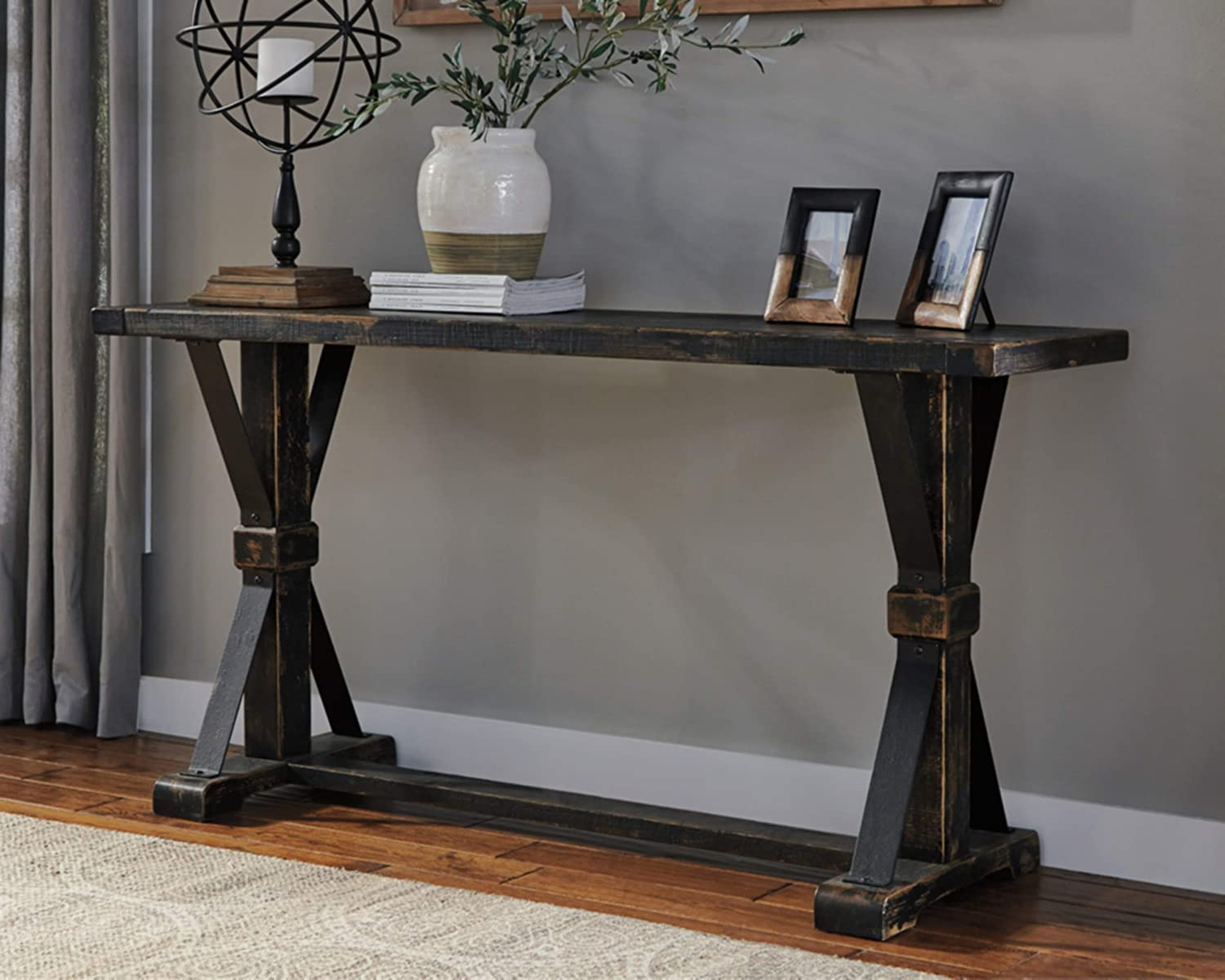 Signature Design By Ashley Beckendorf Trestle End Table In