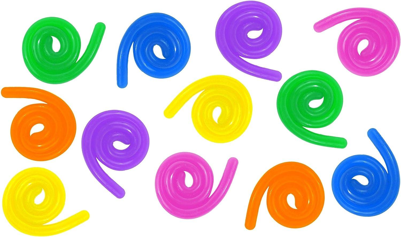 Sensory Fidget Stretchy Worm Toy BULK OT Autism 12 Stretchy Noodle Strings