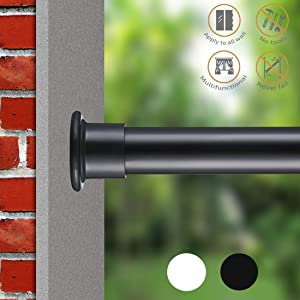 ALLZONE Spring Shower Tension Curtain Rod, Steel, No Drilling,Rust Free, 28-41''