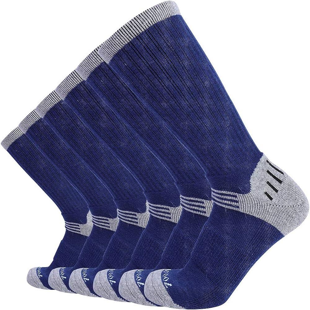Enerwear 6P Pack Men's Merino Wool Blended Outdoor Walking Socks