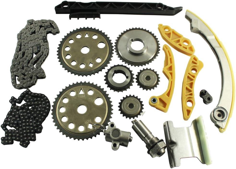 JDMSPEED New Engine Timing Chain Kit W/Balance Shaft Set L61 Replacement For GM 2.0L 2.2L 2.4L Ecotec 00-11