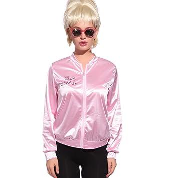 Anladia - Disfraz de Pink Lady Pink Lady Chaqueta Pink Lady Jacket Cosplay Dress Fiesta Carnaval Halloween Talla S 38: Amazon.es: Juguetes y juegos