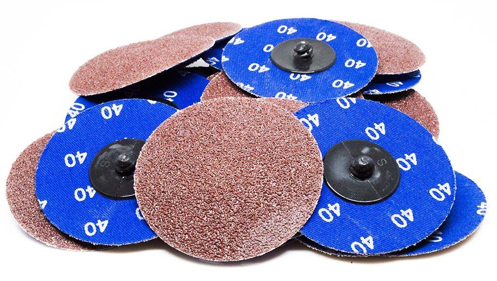 3'' Roloc A/O Quick Change Sanding Disc 36 Grit - 25 Pack