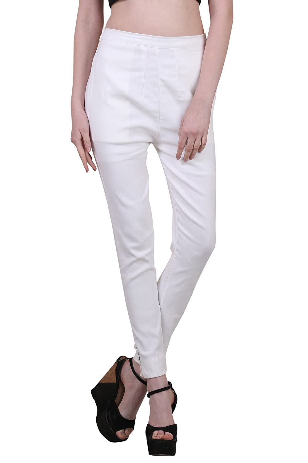 e5ecaf426e0d19 Shararat Fashionable Lycra Stretchable Slim Fit Straight Casual Cigarette  Pants For Girls / Ladies / Women: Amazon.in: Clothing & Accessories