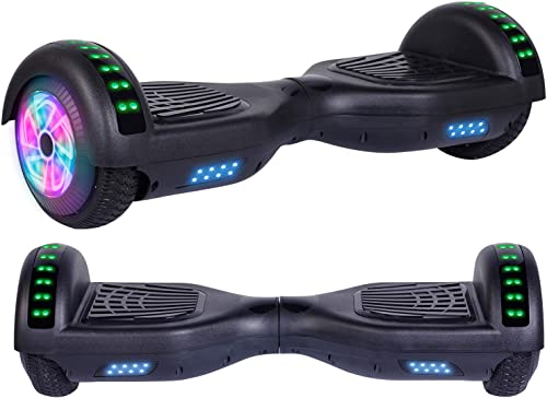 Felimoda Hoverboard, w Bluetooth Speaker for Kid and Adult- UL2272 Certified Black