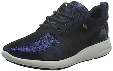 Damen D Ophira A Sneaker, Schwarz (BLACKC9999), 37 EU Geox