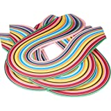 Width 10mm Extra Long Quilling Paper Strips Kits,36 Shade Colors 720 Strips Origami Paper 3//5//7//10mm Width Available,Length 54cm