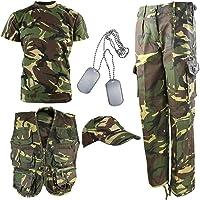 Kombat UK niños Kit del ejército DPM Camuflaje Explorer, Infantil, Color Camuflaje, tamaño 5-6 años