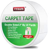 YYXLIFE Double Sided Carpet Tape for Area Rugs Carpet Adhesive Rug Gripper Removable Multi-Purpose Rug Tape Cloth for Hardwoo