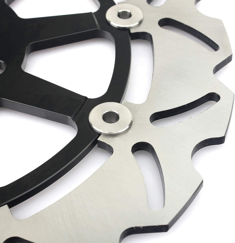 TARAZON Front Rear Brake Discs Rotors and Pads for Suzuki GSXR1000 K1 K2 2001 2002 Black