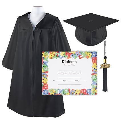 Amazoncom Kindergrad Shiny Kindergarten Graduation Cap And Gown