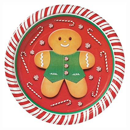 Gingerbread Man Christmas Dessert Plates 8ct  sc 1 st  Amazon.com & Amazon.com: Gingerbread Man Christmas Dessert Plates 8ct: Kitchen ...