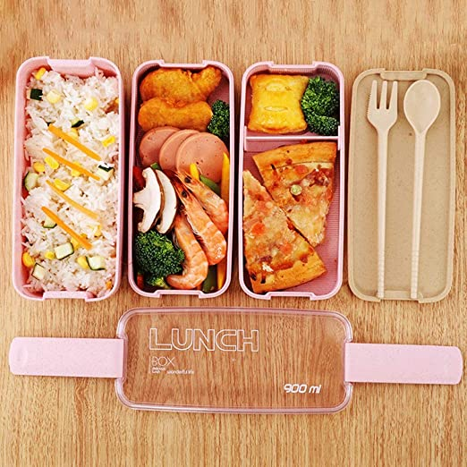 HWZX Bento Box with Divider Lunch Lunch Box Plastic Storage Box ...