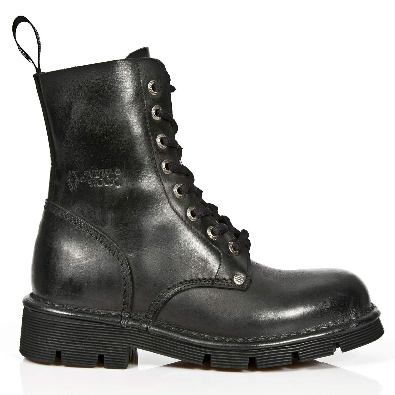 New Rock M.NEWMILI084-S1 schwarz Gothic Stiefel Military Unisex 8 Eyelet schuhe