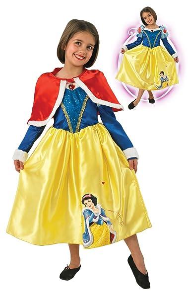 Rubies - Disfraz de Princesa Disney Blancanieves, Invierno en Wonderland para niña, talla M (I-881856M)