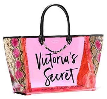 8d3d1abab Amazon.com: Victoria's Secret Neon Python Angel City Jelly Tote, Pink:  Penania's Secret Closet
