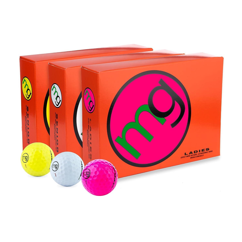 MGゴルフボールシニア最長速度 距離 &最高の楽しみ( 1ダース入り) B00VBIRDZK Pink Ladies Version