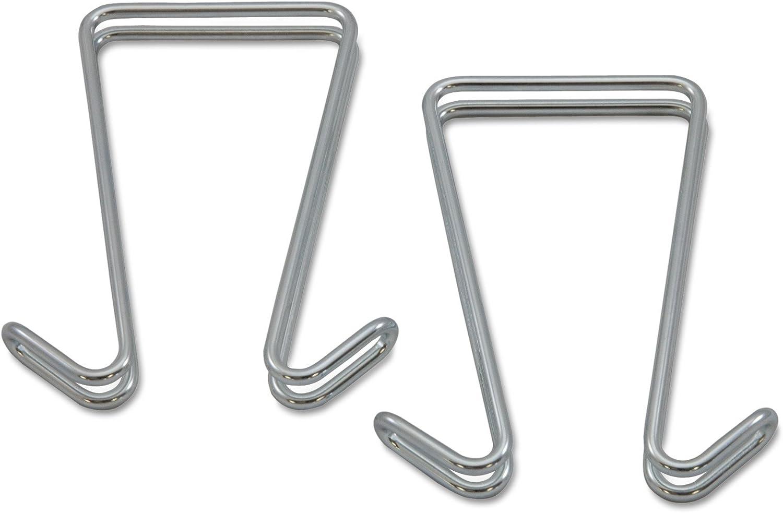 Alera (ALEAU) Alera ALE Double Sided Partition Garment Hook, Silver, Steel (Pack of 2),