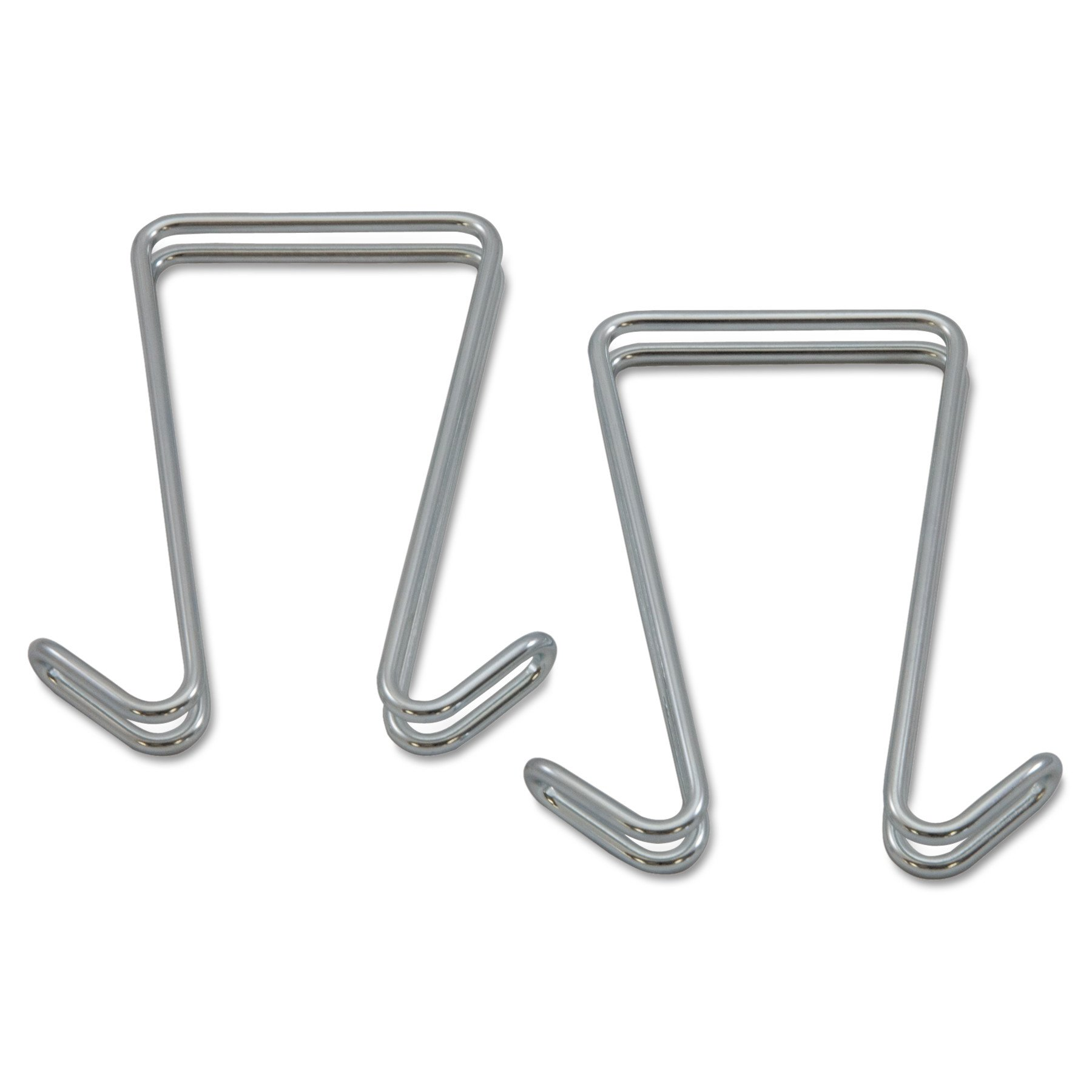 Alera ALECH2SR Double Sided Partition Garment Hook, Silver, Steel (Pack of 2)
