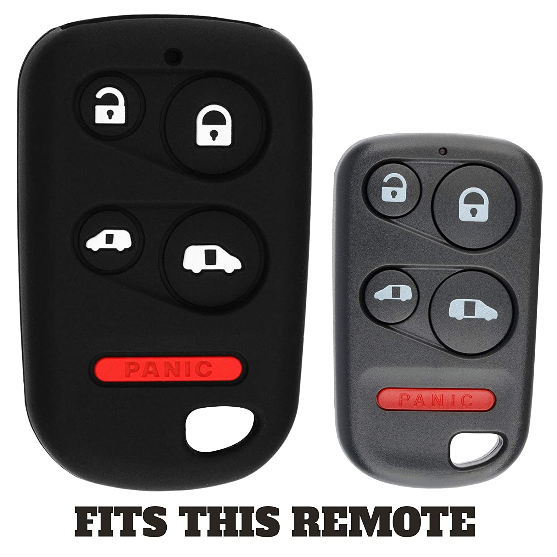 KeyGuardz Keyless Entry Remote Car Key Fob Outer Shell Cover Soft Rubber Protective Case for Honda Odyssey E4EG8DN OUCG8D-440H-A