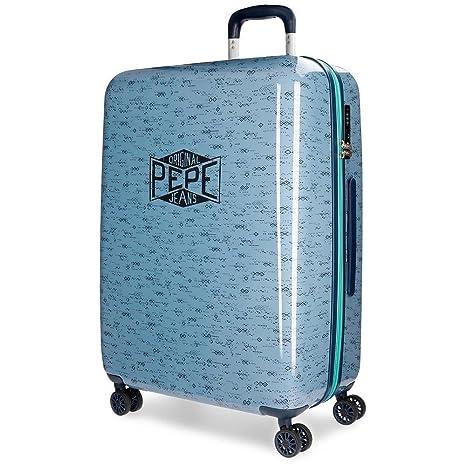 Pepe Jeans Pierce Maleta, 69 cm, 81 litros, Azul: Amazon.es ...