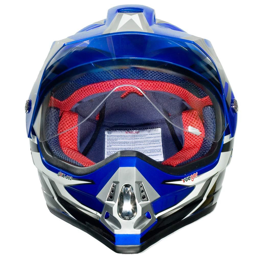 Gr/ö/ße:XS 53-54 RX-962 Crosshelm Quad Cross Enduro Motocross Offroad Helm rueger Farbe:Orange V//RCK
