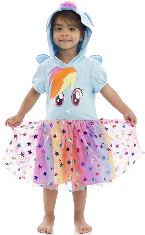 My Little Pony Rainbow Dash Toddler Girls' Costume Dress Hood Wings, Blue