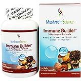 Mushroom Science Immune Builder 400 mg 90 Vegetarian Capsules (Formerly 5 Mushroom Formula)