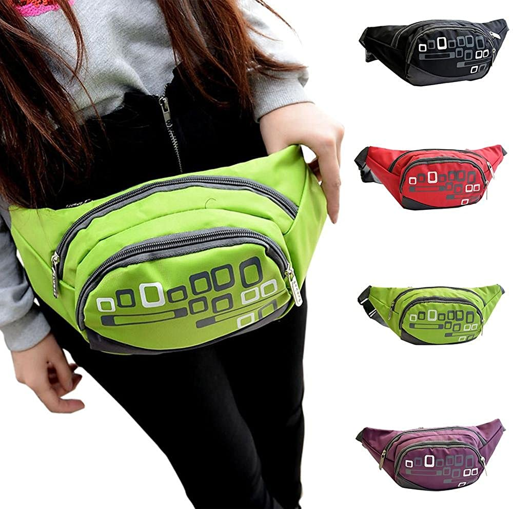 1a6b84f848a8 Leegor Women Men Floral Printed Waist Pack Portable Cycling Sport Belt Bag