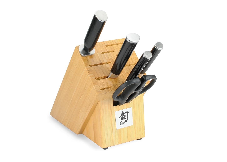Shun Classic 6ピースナイフセットwith竹ブロック B00022YJ6M