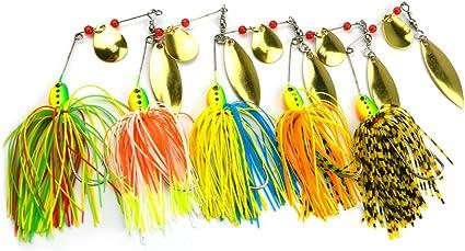 5Pcs Head Hooks Lead Head Hook Lure Hook Jig Head Fishing Tackle Hook ZJH'