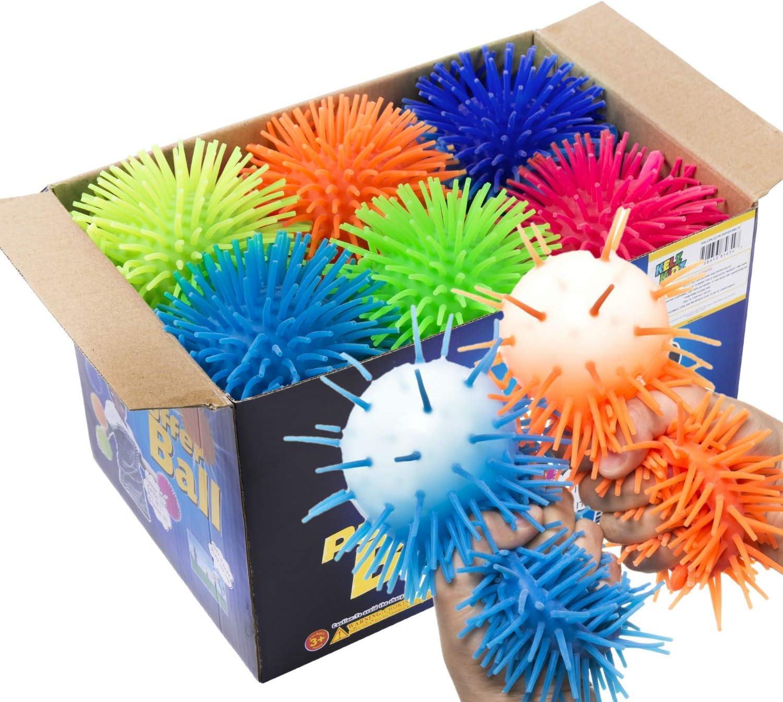 KELZ KIDZ Premium Quality Large & Thick Puffer Balls for Fun Kids Party (Set of 12)