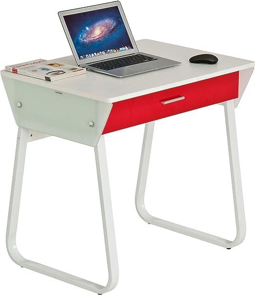 Muebles Piranha - Mesa Blanca de Escritorio compacta para ...
