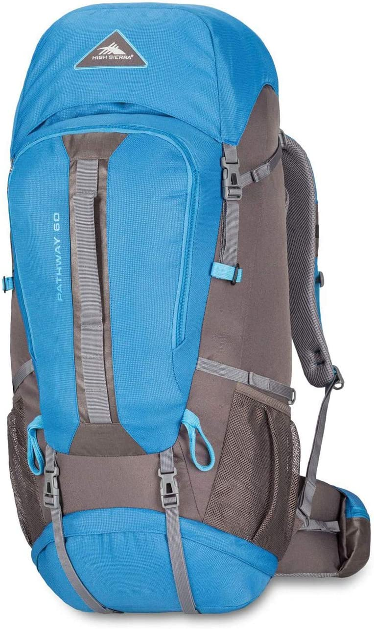 High Sierra Pathway Internal Frame Hiking Backpack 60L – Internal Frame Backpack with Hydration Port – Compatible with 3-Liter Hydration Reservoir – for Hiking, Camping, or Trekking Adventure