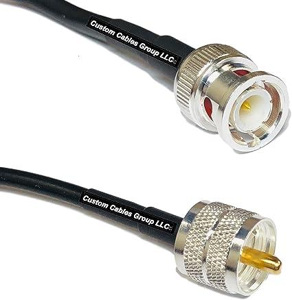 10 feet RG58 UHF male PL259 to UHF male PL259