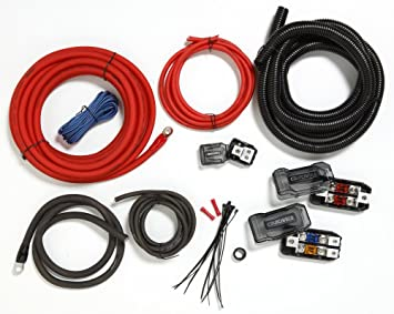 amazon com crutchfield amp wiring kit 4 gauge dual amp car electronics rh amazon com wiring kit for amp and sub wiring kit for amp walmart