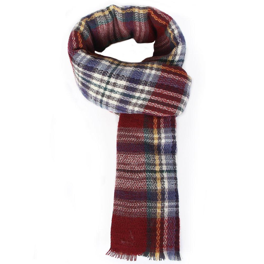 Women Plaid Blanket Scarf Long Scarves Big Grid Winter Scarf Wrap Shawl for Women