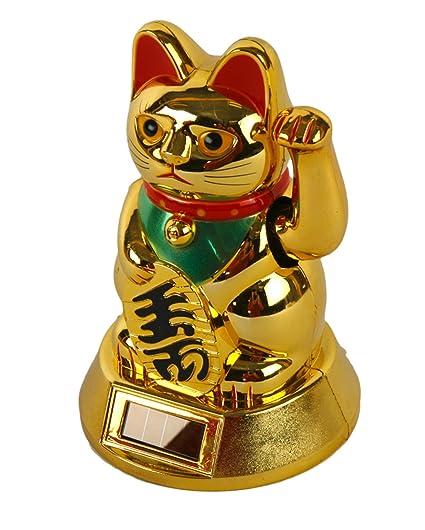 Wink de gato Solar gato de la suerte de la suerte chino ...