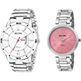 BigOwl Analogue Multicolour Dial Couple for Men's and Women's Wrist Watch Combo