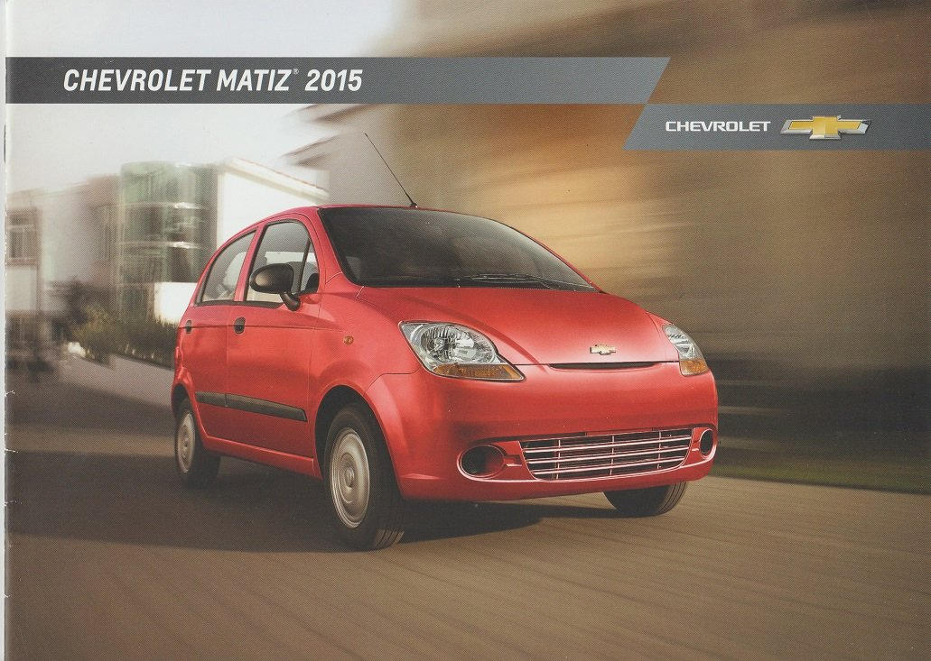 Amazon.com : 2015 CHEVROLET MATIZ LS SEDAN PRESTIGE COLOR SALES BROCHURE - MEXICO - SPANISH - BEAUTIFUL!! : Everything Else