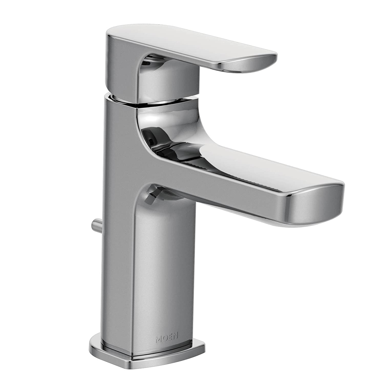 Moen 6900 Rizon One-Handle Low-Arc Bathroom Faucet with Drain ...
